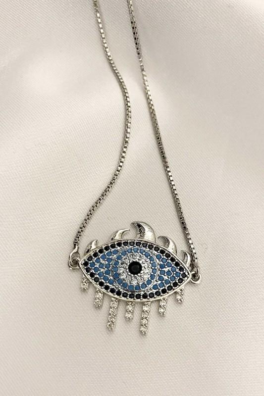 Mavi Taşlı Göz Bileklik